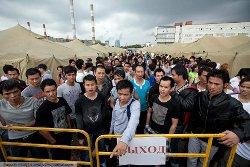 Лагерь для мигрантов в Гольяново, Москва