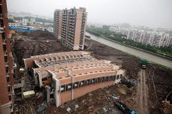 Обрушение дома в Шанхае