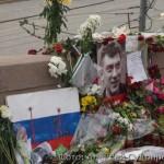 Место убийства Бориса Немцова (фоторепортаж)
