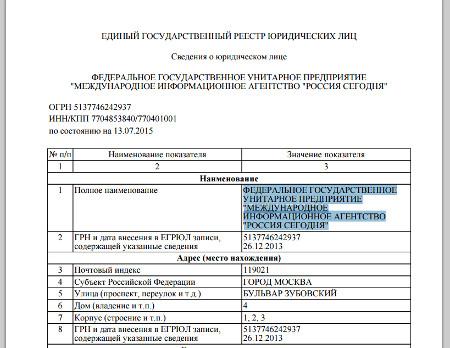 Россия сегодня - арест счетов